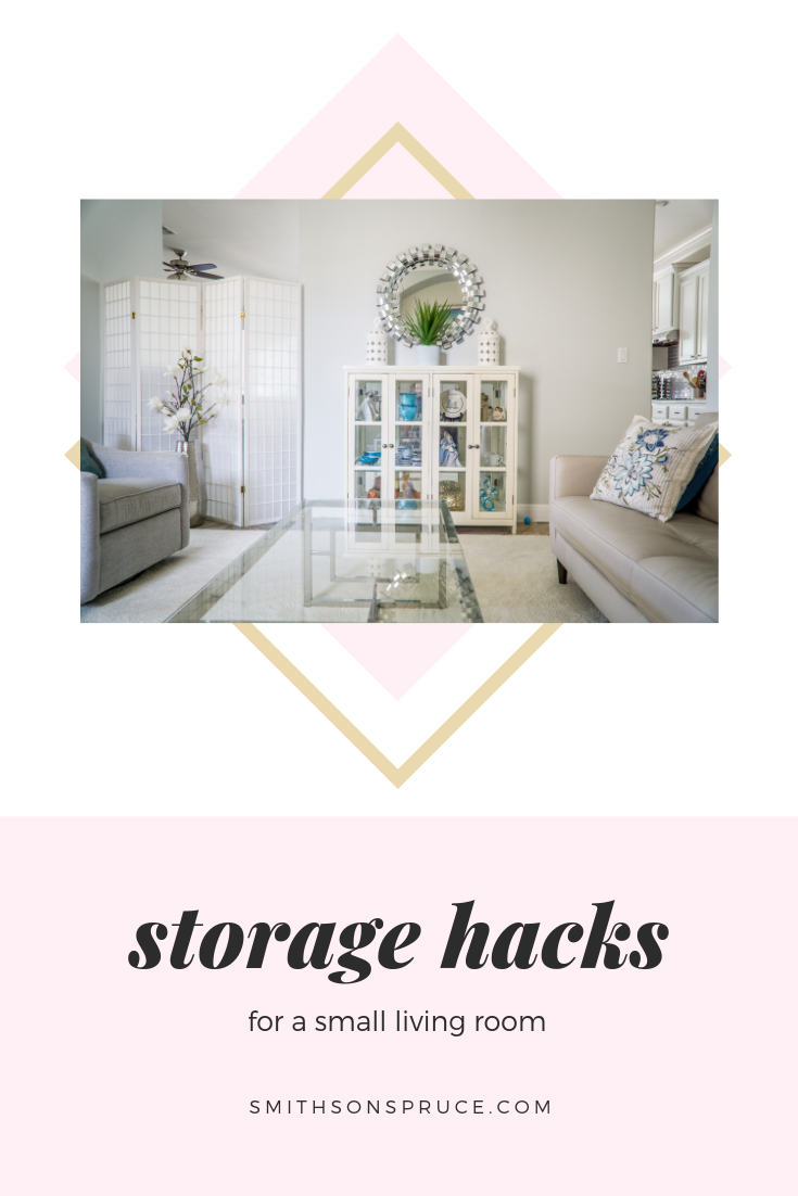 Storage Hacks for a Small Living Room