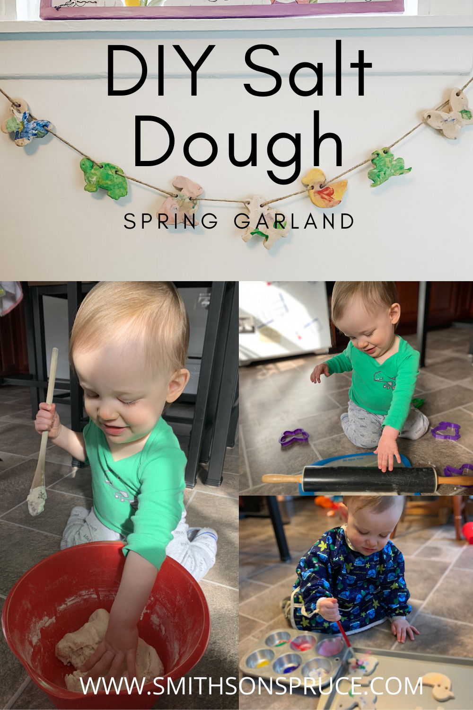 DIY Salt Dough Spring Garland